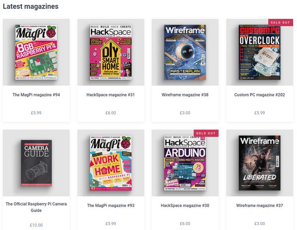 Verschiedene Linux-Zeitschriften